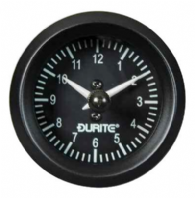 DURITE 52mm QUARTZ CLOCK, 12 or 24volt